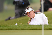 Hannah Green (AUS) hits from the trap up tight on 18 during round 4 of the KPMG Women's PGA Championship, Hazeltine National, Chaska, Minnesota, USA. 6/23/2019.<br /> Picture: Golffile | Ken Murray<br /> <br /> <br /> All photo usage must carry mandatory copyright credit (© Golffile | Ken Murray)