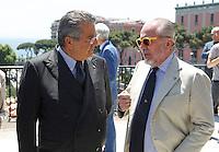Repubblica delle idee Napoli<br /> nella foto   Aurelio De Laurentiis   Carlo De Benedett <br /> foto Ciro De Luca