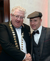Pictured at the Kerry Branch of IHF Ball in the Muckross Park Hotel at the weekend were Deputy Michael Healy-Rae, with Joe Dolan, President of the IHF.<br /> Photo: Don MacMonagle<br /> <br /> Repro free photo