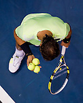 BANGKOK, THAILAND - OCTOBER 02:  Rafael Nadal of Spain prepares to serve against compatriot Guillermo Garcia-Lopez during the Day 8 of the PTT Thailand Open at Impact Arena on October 2, 2010 in Bangkok, Thailand.  Photo by Victor Fraile / The Power of Sport Images