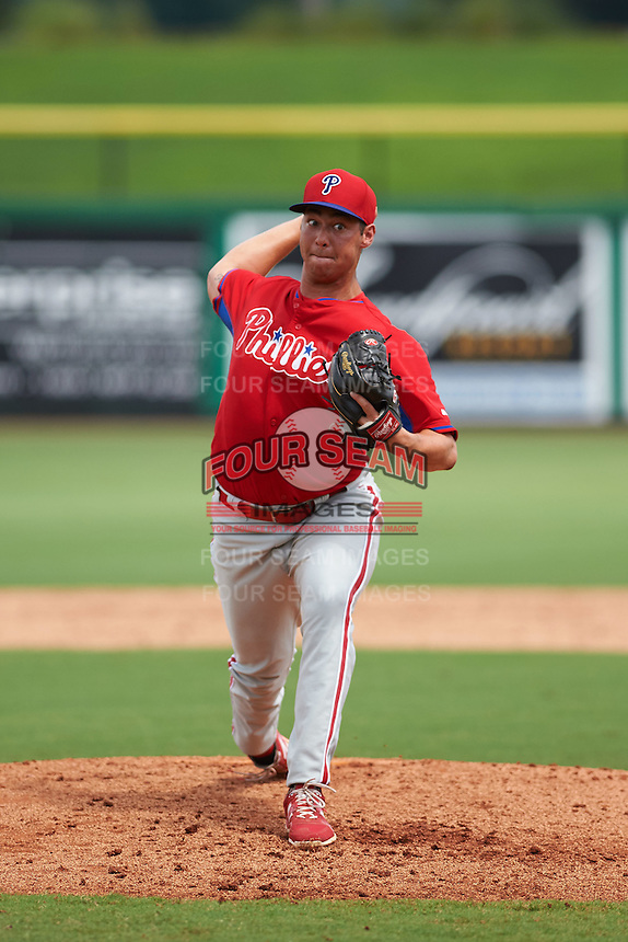 Philadelphia Phillies pitcher Luke Leftwich (39) during an instructional league game against the New York Yankees on September 29, 2015 at Brighthouse Field in Clearwater, Florida.  (Mike Janes/Four Seam Images)