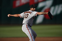 OAKLAND, CA - JULY 21:  Madison Bumgarner #40 of the San Francisco Giants pitches against the Oakland Athletics during the game at the Oakland Coliseum on Saturday, July 21, 2018 in Oakland, California. (Photo by Brad Mangin)
