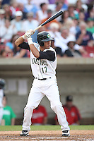 August 5, 2009: Nino Leyja of the Kane County Cougars. The Cougars are the Midwest League affiliate for the Oakland Athletics. Photo by: Chris Proctor/Four Seam Images