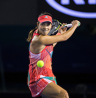 Ana Ivanovic of Serbia in action in the second round of the Australian Open