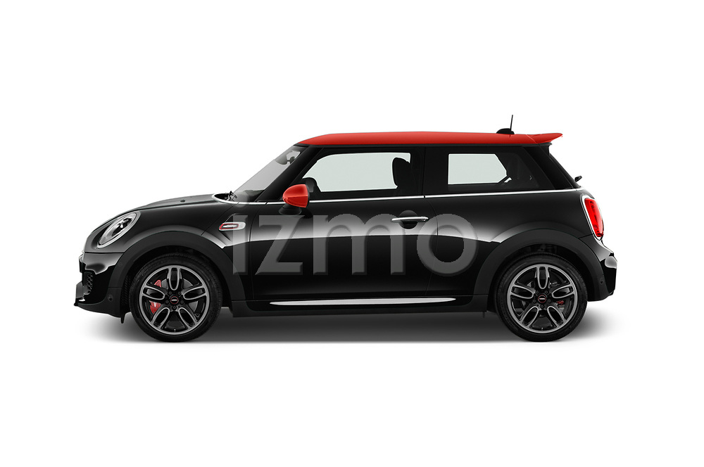 Car driver side profile view of a 2017 Mini Cooper John Cooper Works 2 Door Convertible