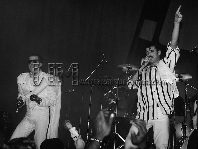 Frankie Goes to Hollywood pictured performing at The Ritz in New York City in November 1984.