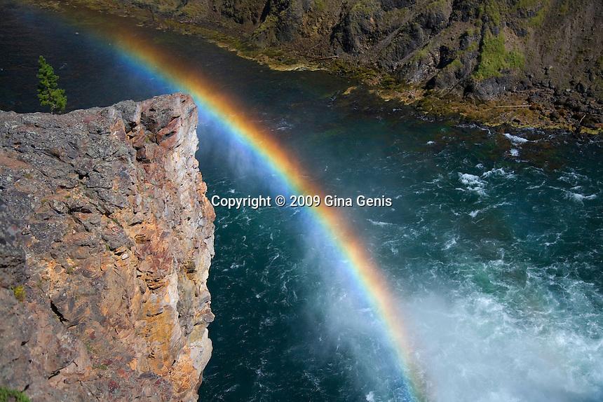 Rainbow over Yellowstone River in Yellowstone National Park-Horizontal