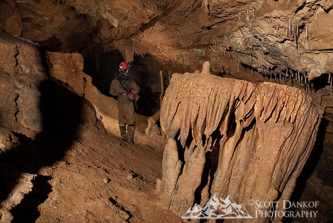 Muddy Akansas cave passage