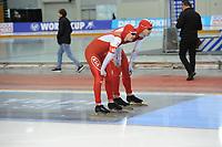 SPEEDSKATING: SALT LAKE CITY: 08-12-2017, Utah Olympic Oval, ISU World Cup, 500m Men B-Division, Artur Nogal (POL), Piotr Michalski (POL), ©photo Martin de Jong
