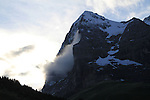 Cog railway leading to the North Face of the Eiger, Lauterbrunnen, Switzerland.