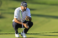 Francesco Laporta (ITA) on the 7th green during Thursday's Round 1 of the 2016 Portugal Masters held at the Oceanico Victoria Golf Course, Vilamoura, Algarve, Portugal. 19th October 2016.<br /> Picture: Eoin Clarke | Golffile<br /> <br /> <br /> All photos usage must carry mandatory copyright credit (&copy; Golffile | Eoin Clarke)