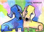 Nettie,REALISTIC ANIMALS, REALISTISCHE TIERE, ANIMALES REALISTICOS, paintings+++++DoubleDaushunds,USLGNETPRI29,#A#, EVERYDAY pop art