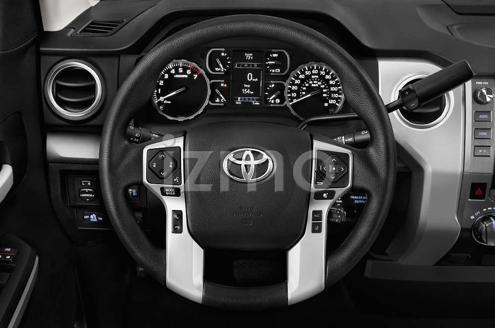 Car pictures of steering wheel view of a 2018 Toyota Tundra SR5 5.7L Double Cab Long Bed 4 Door Pick Up
