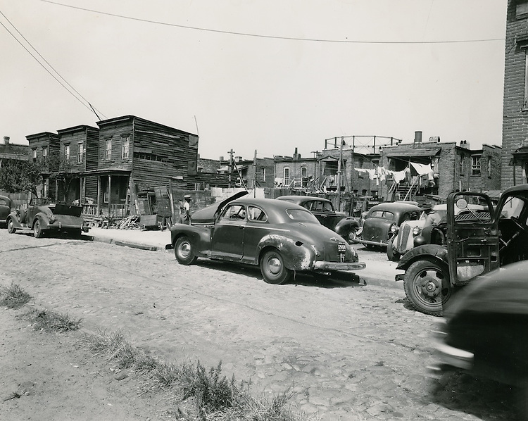 1950 September 19..Redevelopment..Project#1 (UR1-1)..Slum Conditions.Suffolk between Monticello & Bank..PHOTO CRAFTSMEN INC..NEG# 8-963.NRHA#93..