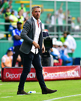 PALMIRA-COLOMBIA, 03-03-2019: Lucas Pusineri, técnico de Deportivo Cali durante partido de la fecha 8 entre Deportivo Cali y Millonarios, por la Liga Aguila I 2019, jugado en el estadio Deportivo Cali (Palmaseca) en la ciudad de Palmira. / Lucas Pusineri, coach of Deportivo Cali during a match of the 8th date between Deportivo Cali and Millonarios, for the Liga Aguila I 2019, at the Deportivo Cali (Palmaseca) stadium in Palmira city. Photo: VizzorImage  / Nelson Ríos / Cont.