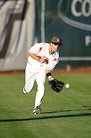 Dan Cook of the Salem-Keizer Volcanoes in the final game of the Northwest League championship game against the Tri-City Dust Devils at Volcanoes Stadium, Keizer, Oregon - 9/10/2009. The Volcanoes won the deciding game, 2-1, in 13 innings to win the series, 3 games to 1..Photo by:  Bill Mitchell/Four Seam Images..
