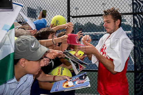 31.08.2015. New York, NY, USA.  Stan Wawrinka (SUI) during practice at the 2015 U.S. Open Tennis Championships at the USTA Billie Jean King National Tennis Center in Flushing, Queens, New York, USA.