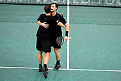 3rd November 2017, Paris, France; Rolex Masters tennis tournament;  Jamie Murray (gbr) and Bruno Soares (bra) celebrate after their game against Pierre Hugues Herbert and Nicolas Mahut (Fra)