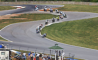 Motorcycles wind down a hill at the AMA Superbike Showdown at Road ATlanta, Braselton, GA, April 2010.  (Photo by Brian Cleary/www.bcpix.com)