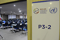 RIO DE JANEIRO-08/06/2012-Rio + 20- Montagem da estrutura do evento Rio + 20, no Rio Centro, zona oeste do Rio.Marcelo Fonseca-Brazil Photo Press