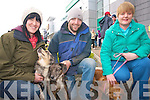 Attending the Petmania and Tralee Carers Association Walk in Tralee on Easter Monday is Mary Lynch, Tom McGuire and Angela Delacy.