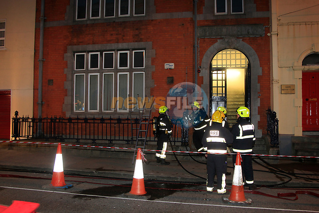 Fire in the Old Library, District court clerk office on Fair street in the early hours of Tuesday morning, Two units of Drogheda fire service attended the scene..Picture Fran Caffrey www.newsfile.ie