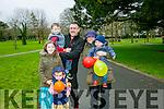 Tir na Nog Easter Festival - Under 12 Kids Fancy Dress Fun Run in Tralee Town Park were l-r  Orla Drummey, Sean Drummey, John Drummey Ciara Drummey, Lewis Kraiem and Sarah Jane Drummey