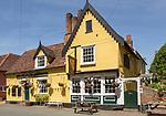 The Peacock Inn pub, Chelsworth, Suffolk, England traditional historic building