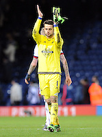 Goalkeeper Lukasz Fabianski of Swansea City applauds the fans at the end of the Barclays Premier League match between West Bromwich Albion and Swansea City at The Hawthorns on the 2nd of February 2016