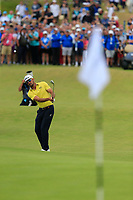 Rafa Cabrera-Bello (ESP) chips onto the 18th green during Sunday's Final Round of the Dubai Duty Free Irish Open 2019, held at Lahinch Golf Club, Lahinch, Ireland. 7th July 2019.<br /> Picture: Eoin Clarke | Golffile<br /> <br /> <br /> All photos usage must carry mandatory copyright credit (© Golffile | Eoin Clarke)