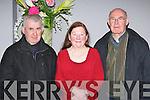 Fr Micheál O'Dochártaigh, Joan Halliden and Tadhg O'Dochártaigh Firies at the Hugh O'Flaherty memorial concert in the Malton Hotel Killarney on Thursday night.