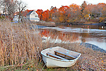 Fallfoliage near the town landing in Ipswich, MA, USA