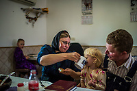 CAPULIN, MEXICO - OCTOBER 31: The Mexican Mennonite family of Johan Giesbrecht sit for lunch on the 31st of October, 2015 in Capulin, Mexico. <br /> <br /> Daniel Berehulak for The New York Times