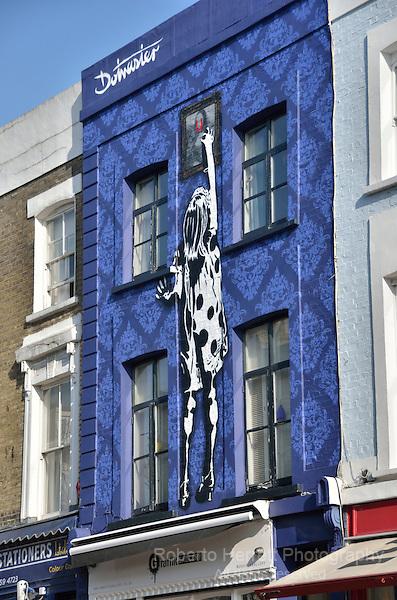 Graffik Gallery in Portobello Road, London, UK.