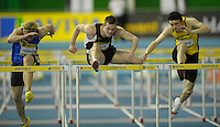 Photo: Ady Kerry/Richard Lane Photography.. Aviva European Trials and UK Championships, 15/02/2009..Chris Baillie inthe 60m hurdles.