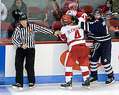 Chris Leavitt, Adam Clendening (BU - 4), Tyler Turcotte (Toronto - 2) - The Boston University Terriers defeated the visiting University of Toronto Varsity Blues 9-3 on Saturday, October 2, 2010, at Agganis Arena in Boston, MA.