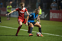 Kansas City, MO - Saturday May 27, 2017: Alyssa Kleiner, Katie Bowen during a regular season National Women's Soccer League (NWSL) match between FC Kansas City and the Washington Spirit at Children's Mercy Victory Field.