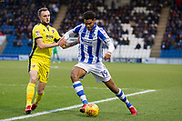 Michael Mandron of Colchester United under pressure from Carl Winchester of Cheltenham Town during Colchester United vs Cheltenham Town, Sky Bet EFL League 2 Football at the Weston Homes Community Stadium on 6th January 2018