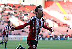 Stefan Scougall of Sheffield Utd celebrates his goal during the Emirates FA Cup Round One match at Bramall Lane Stadium, Sheffield. Picture date: November 6th, 2016. Pic Simon Bellis/Sportimage