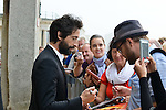 Adrien Brody was present at the Film Festival of Ostend to inaugurate a star with his name on the promenade front of the sea with Moran Atias . Ostend, Belgium, 19 September 2014l