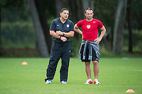 Orlando, FL - Friday Oct. 14, 2016:   Santo Rivas speaks to a candidate during a US Soccer Coaching Clinic in Orlando, Florida.