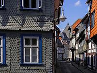 Neue Str. in Goslar, Niedersachsen, Deutschland, Europa, UNESCO-Weltkulturerbe<br /> Neue St. , Goslar, Lower Saxony,, Germany, Europe, UNESCO Heritage Site