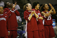 25 March 2006: Markisha Coleman, Eziamaka Okafor, Clare Bodensteiner, Cissy Pierce, and Rosalyn Gold-Onwude during Stanford's 88-74 win over the Oklahoma Sooners during the NCAA Women's Basketball tournament in San Antonio, TX.