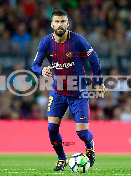 FC Barcelona's Gerard Pique during Joan Gamper Trophy. August 7,2017. (ALTERPHOTOS/Acero) /NortePhoto.com