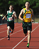 Lynbrook senior Luke Germanakos races to victory in the boys' 400 meter dash during the Nassau County Class A varsity track and field championships at Roosevelt High School on Friday, May 29, 2015. He won with a time of 49.00 seconds.<br /> <br /> James Escher