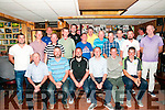 Mike the Pie's Captains Prize: Members of Mike the Pie's Bar, Listowel pictured at their captain's prize giving ceremony  at the bat on Saturday night last. Front; Tim Leahy Snr., Tim Leahy Jnr., Brian Leahy,  captain's prize winner, P J Kelliher & Brendan Griffin.  Back : Kieran O'Sullivan, Kieth Browne, Dean Harris, Tommy Canavan, Adrian Grimes, John O'Connor, Mickey Paul Kelliher, Brendan Kelliher, Des O'Donnell, Mike Canavan, Tom O'Connor, Seamus Mulvihill & Dan Molyneaux.