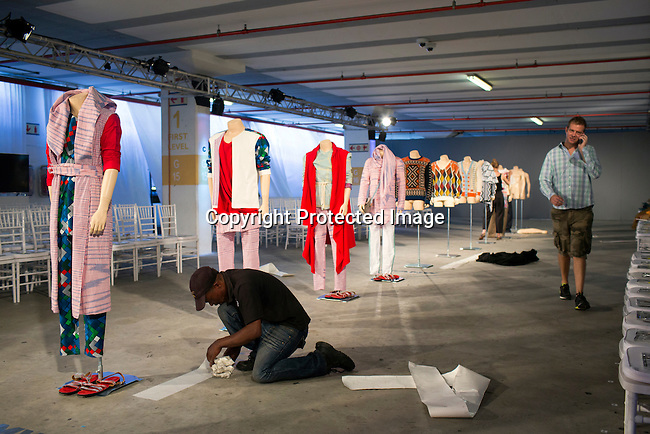 CAPE TOWN, SOUTH AFRICA &ndash; FEBRUARY 7: An installation during the South African Menswear Week in the Cape Town Stadium, South Africa 2015 <br /> (Photo by: Per-Anders Pettersson)