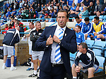 Gillingham's Justin Edinburgh looks on during the League One match at the Priestfield Stadium, Gillingham. Picture date: September 4th, 2016. Pic David Klein/Sportimage