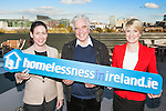 Teresa Hagan (vice President of HMH), Fr Peter McVerry and  Senator Averil Power pictured at the launch of a new education website for second level students and teachers on homelessness in Ireland. The site has been developed in conjunction with HMH an American Multinational. Pic Angela Halpin