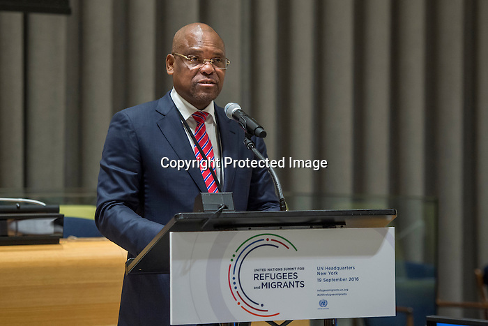 General Assembly Seventy-first session High-level plenary meeting on addressing large movements of refugees and migrants.<br /> <br /> D.R.of Congo